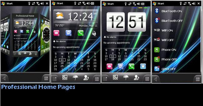 MobileShell Addon Change Skin 4.5 (для Spb Mobile Shell 3.5) .